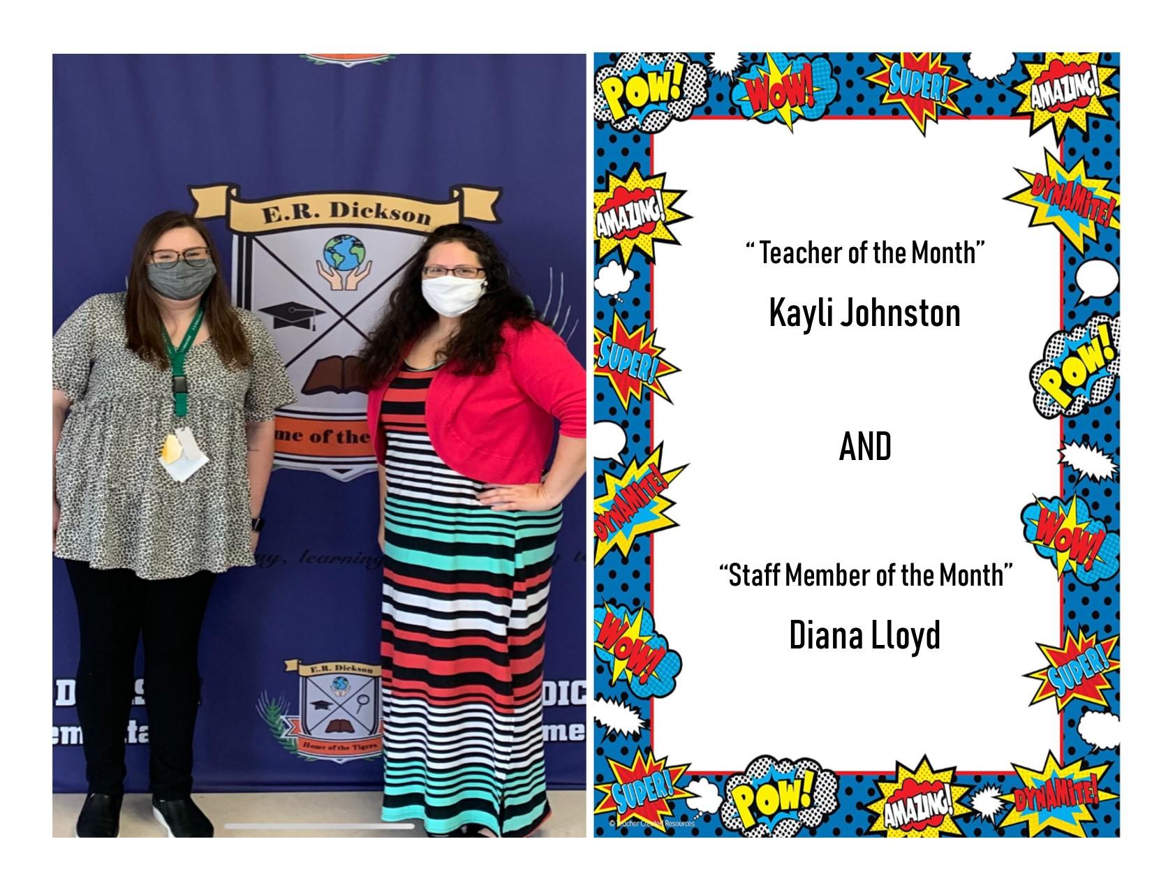 Congratulations Ms. Johnston and Ms. lloyd