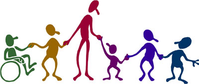 clipart of students with physical impairments