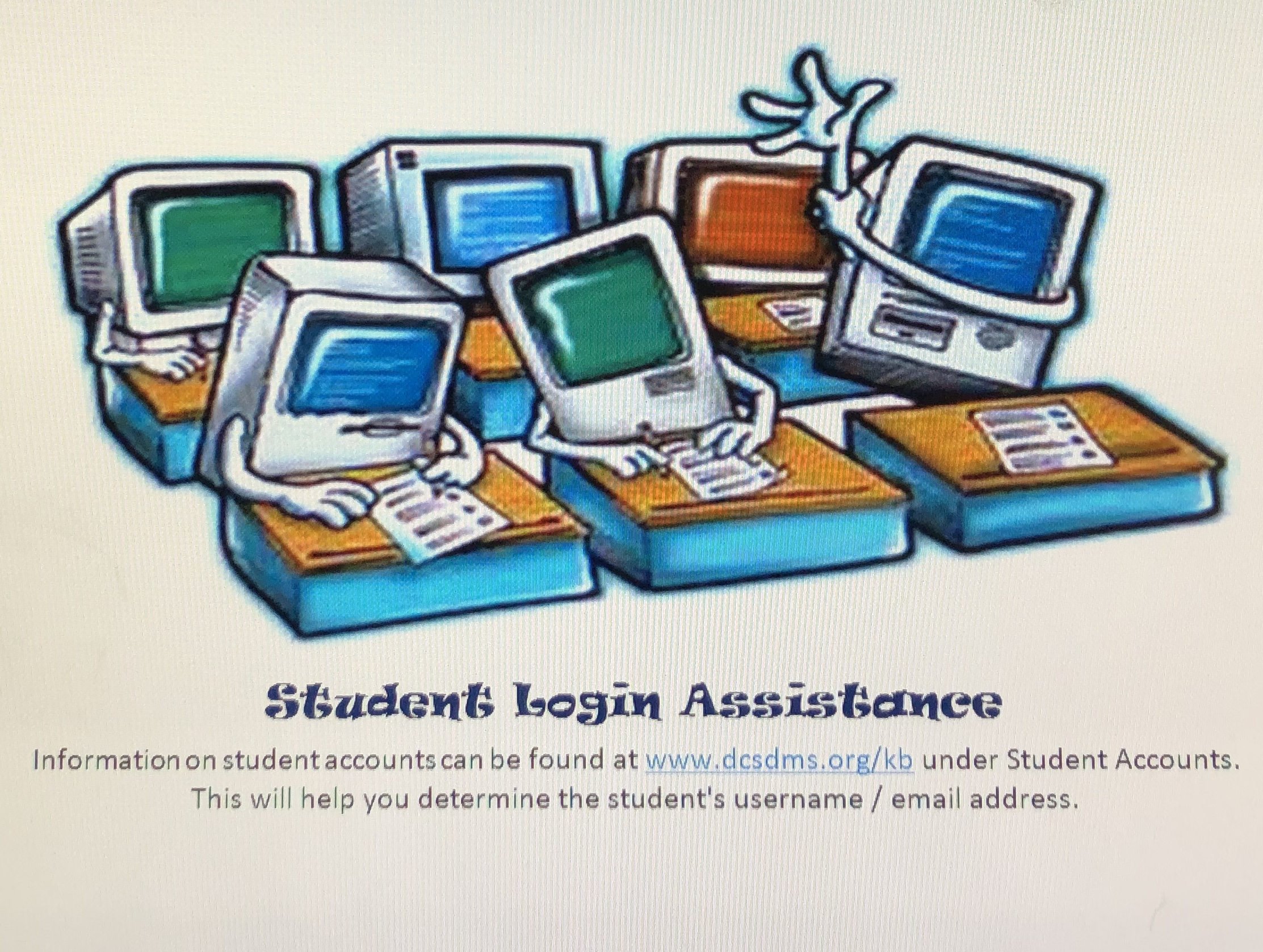 Student account login assistance
