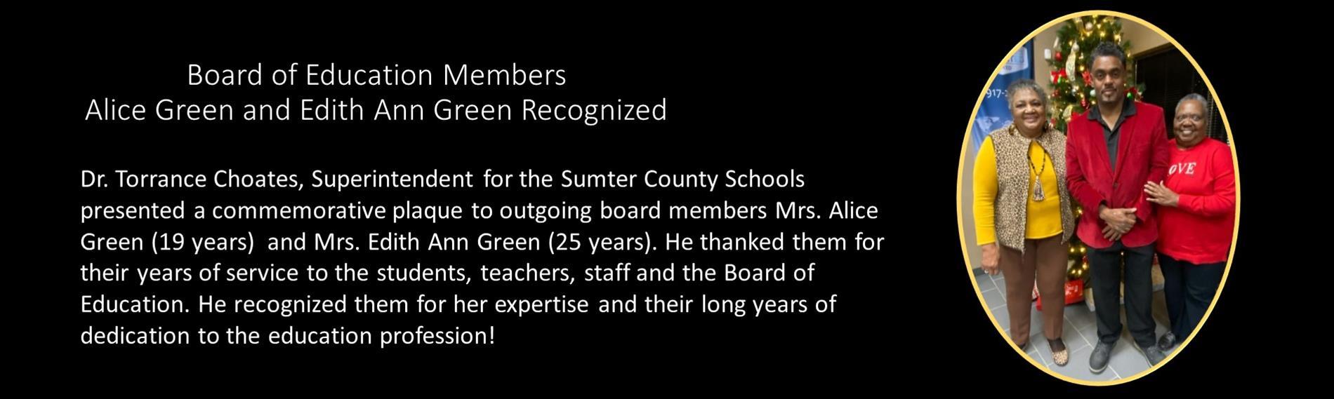 BOE Members Recognized