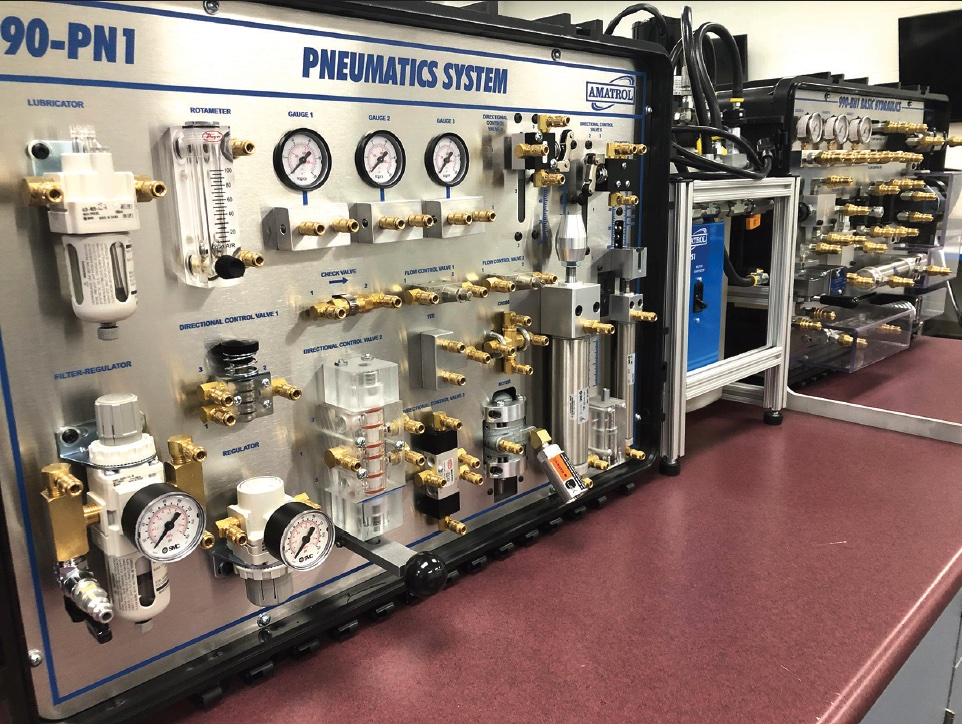 The Amatrol pneumatics and basic hydraulics machines the Utica Shale Academy purchased with  the grant. (Morning Journal /Deanna Johnson)