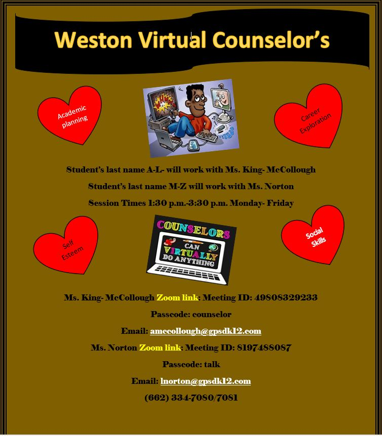 Counselor contact info