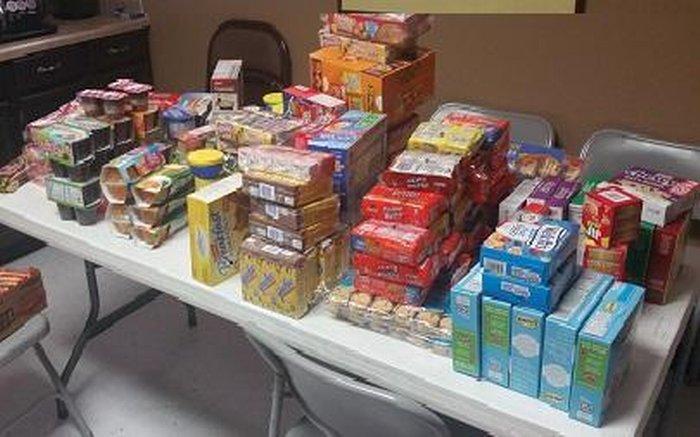Food donations.
