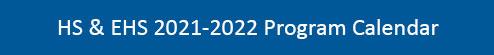 CAI 2021-2022 Program Calendar