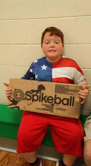 Spikeball winner.