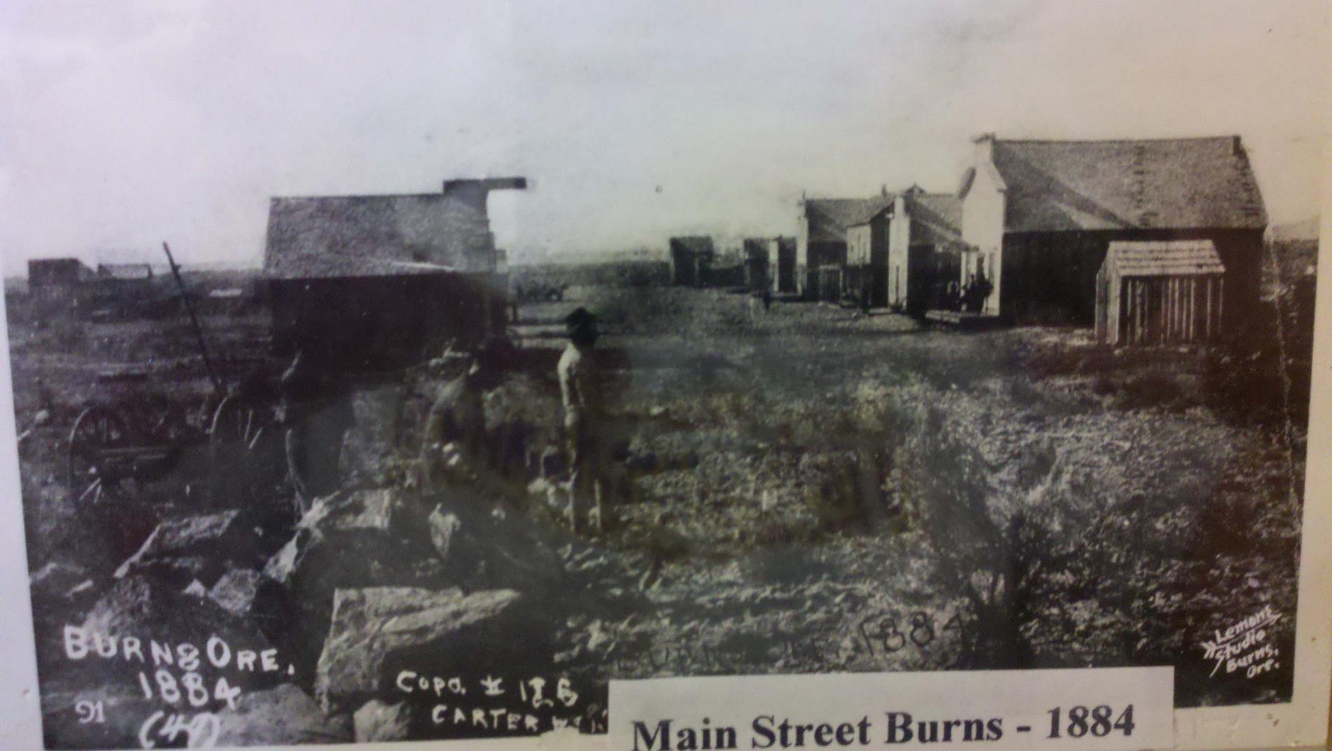 Main Street Burns 1884