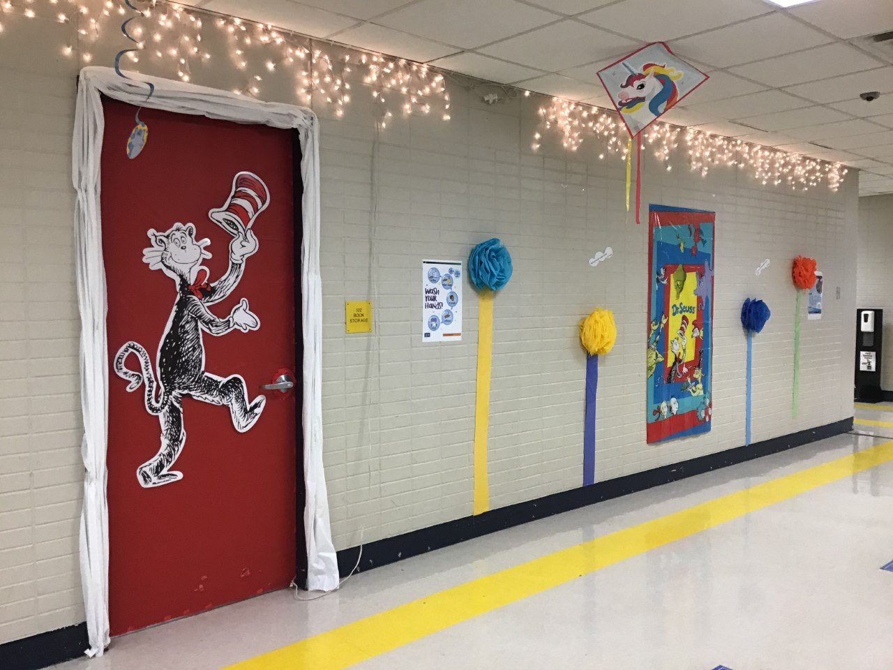 Dr. Seuss decoration in hall