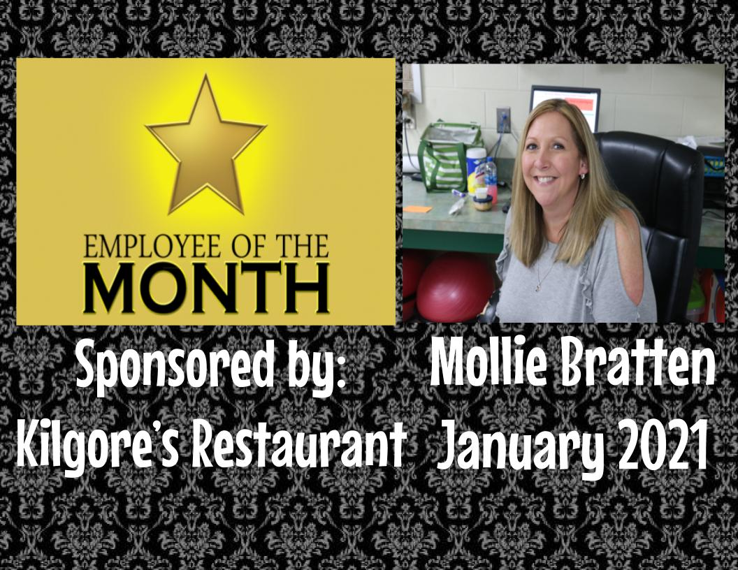 Employee of the Month - Mollie Bratten - January 2021
