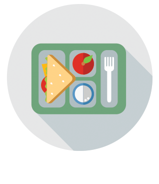cafeteria tray menu icon