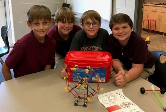 Our 6th graders constructed a Ferris Wheel!