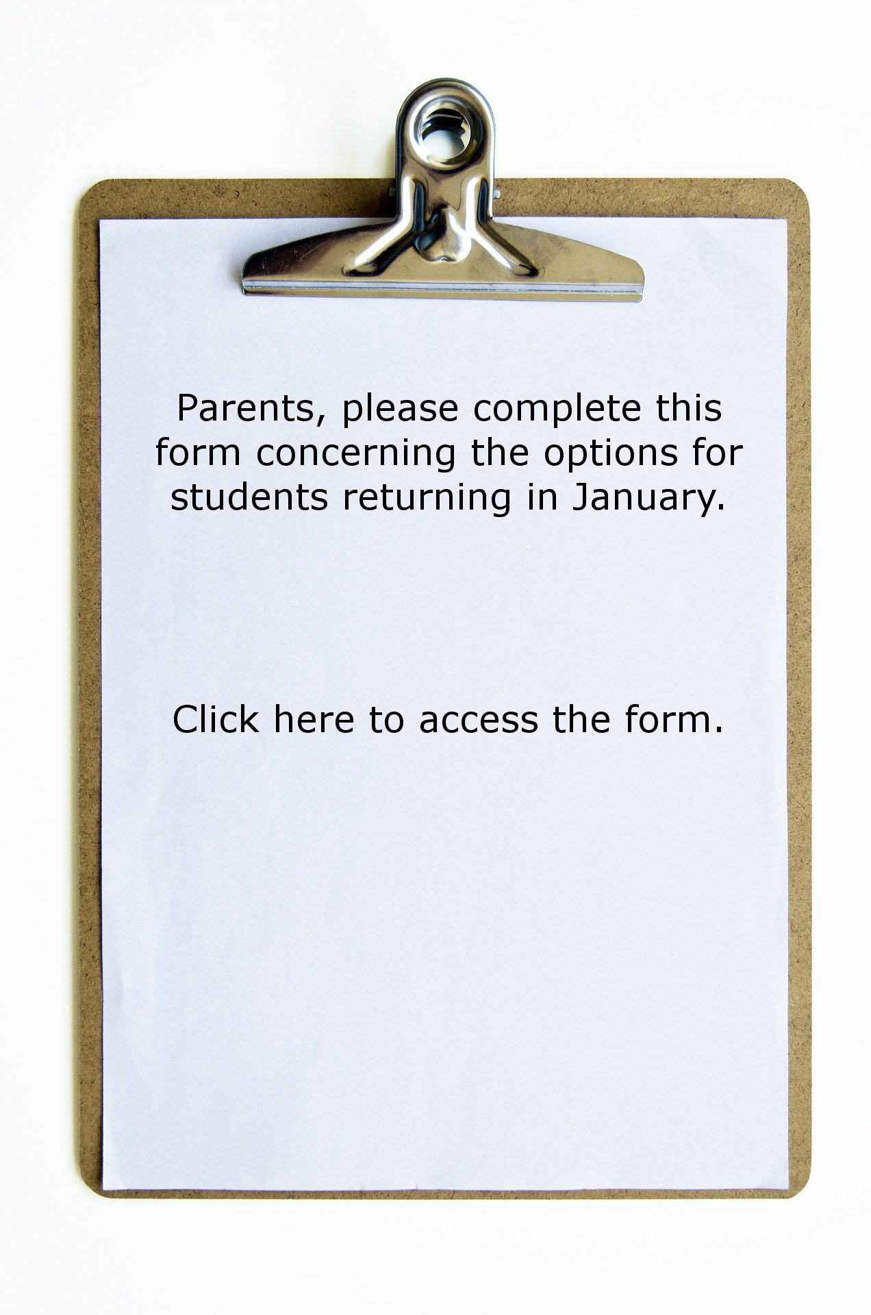 Student Options Form