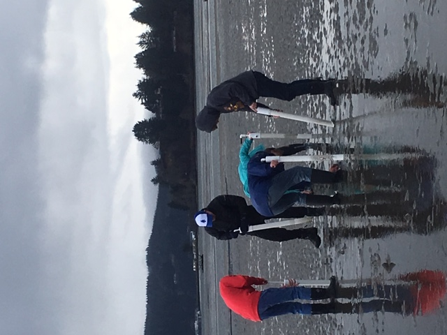 Students completing a lab at Hatfield Marine Science Center