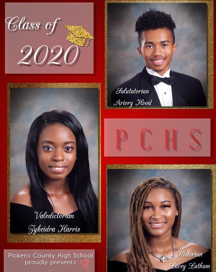 PCHS Top 3 Graduates in Class of 2020
