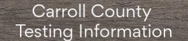 Carroll County Testing Info Tab/Link