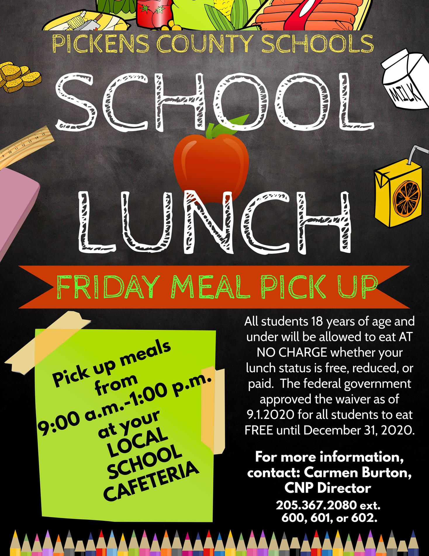Meal Pick Up for ALL Schools