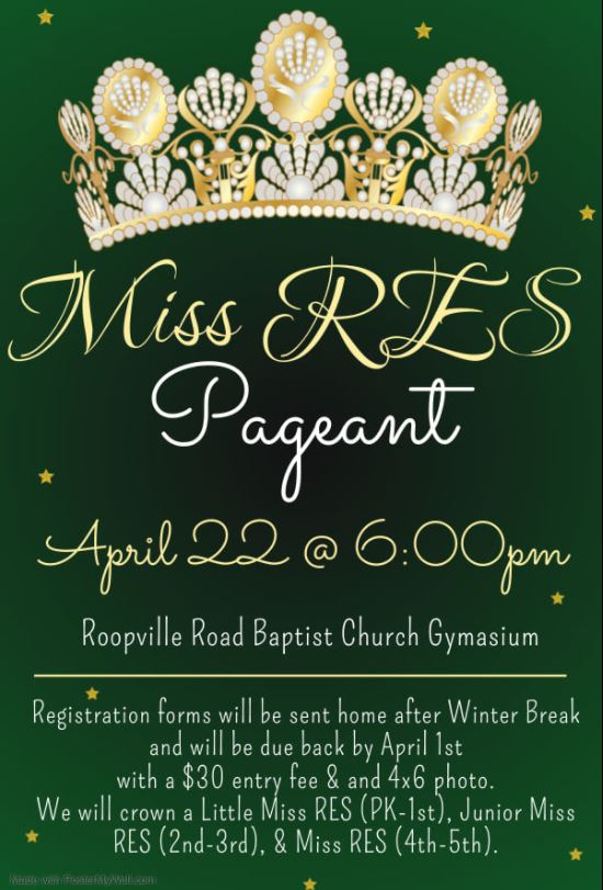 Miss RES Pageant Information