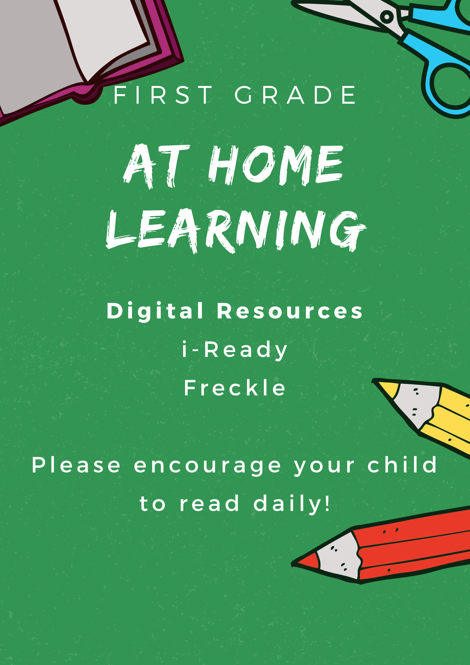 First Grade At Home Learning