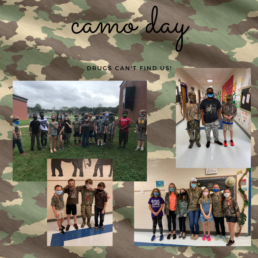 Red Ribbon Week Camo Day