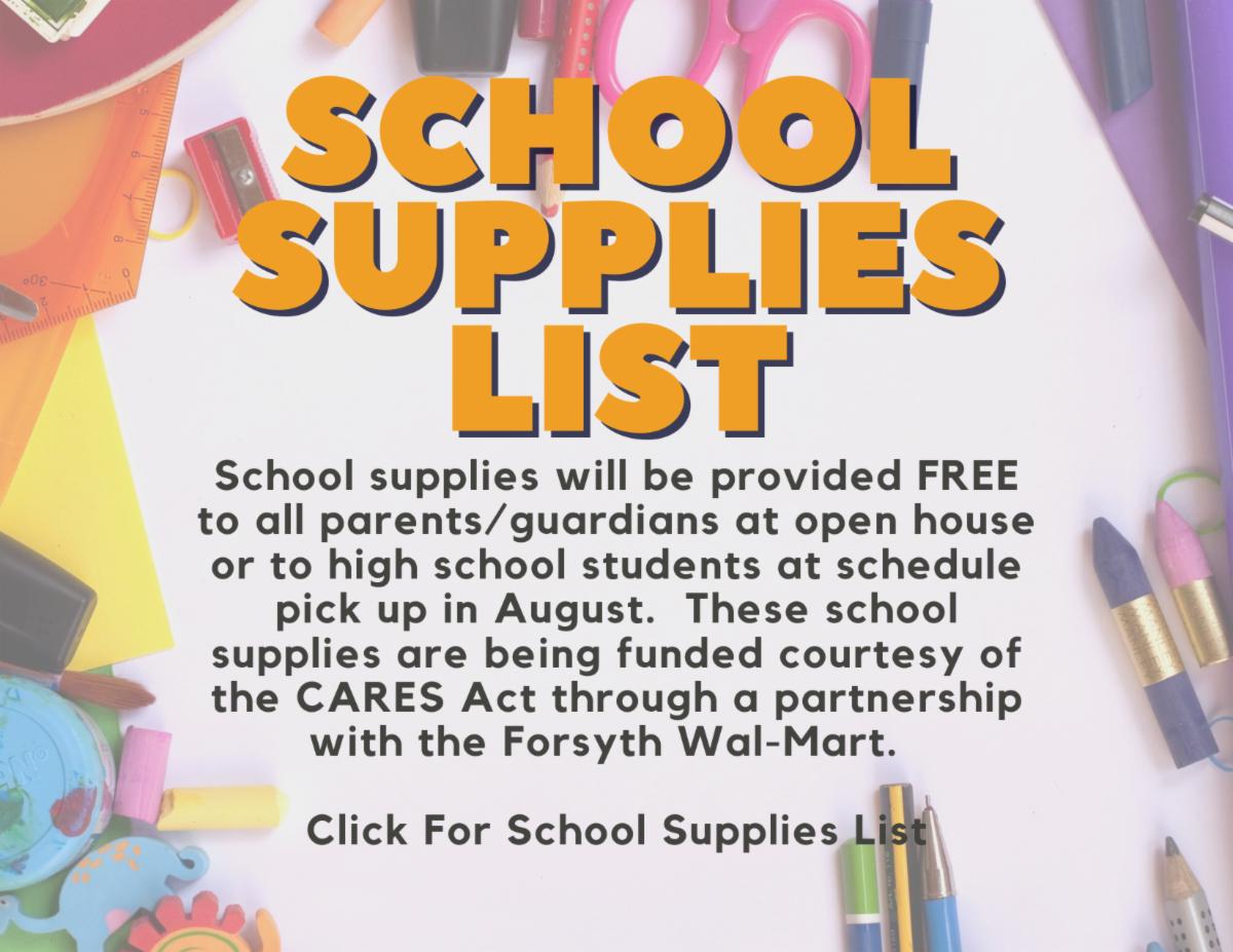 School Supplies Y22