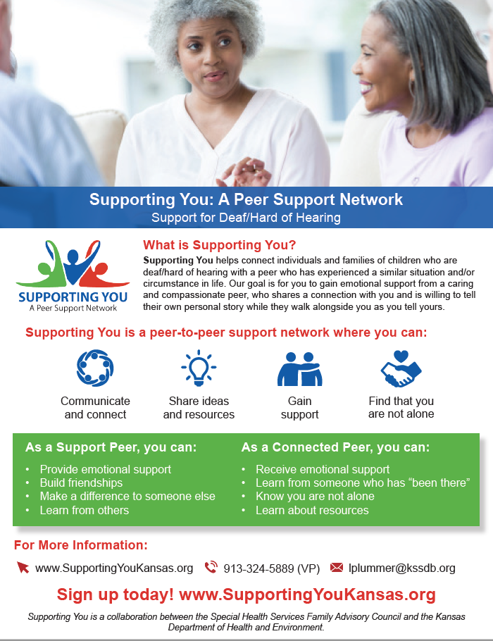 Supporting You: A Peer Support Network Flyer