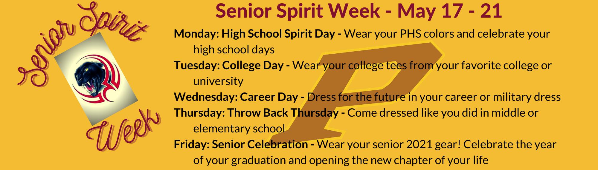 Senior Spirit Week