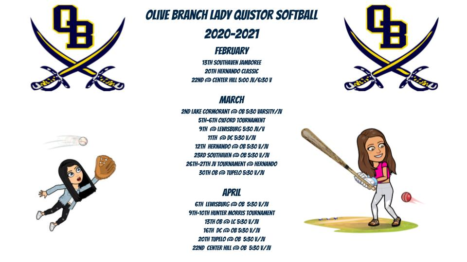 Olive Branch Fast Pitch Softball Schedule