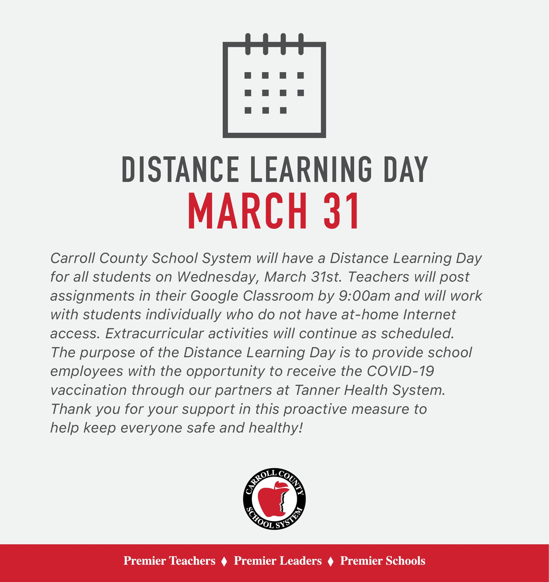 Distance Learning Day March 31