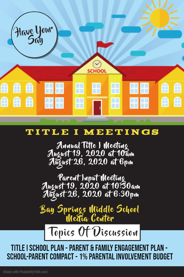 FY 20-21 Title I Meeting