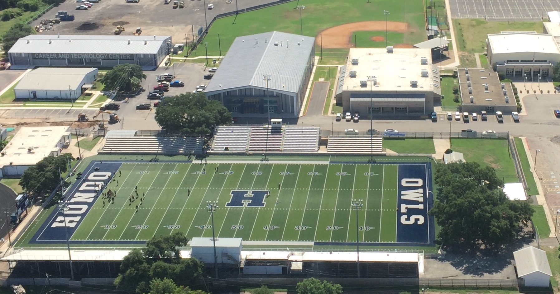 Aerial picture of Hondo High Additions