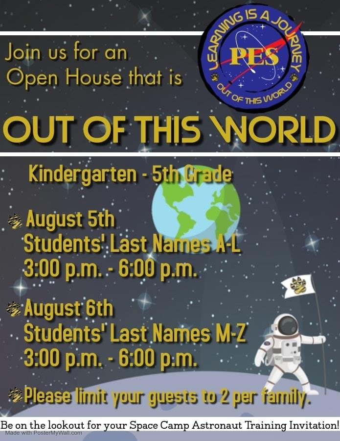 K-5 Open House Flyer