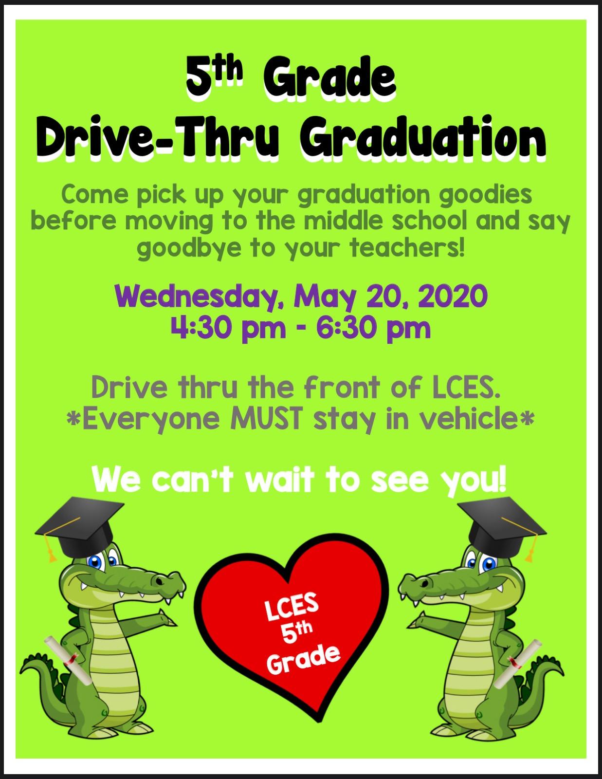 5th grade graduation flyer