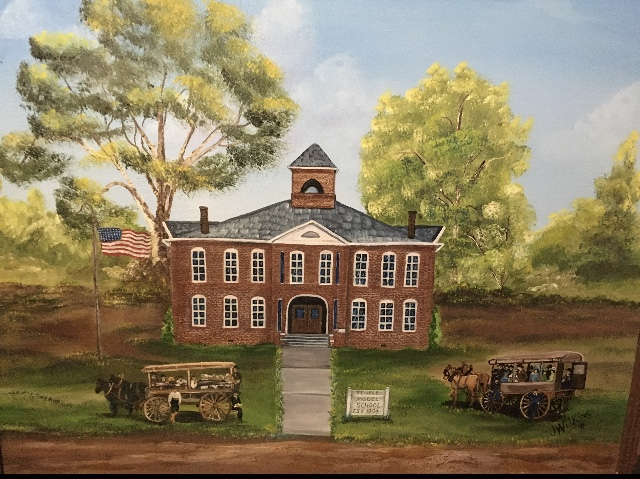 Painting of 1904 Temple Model School