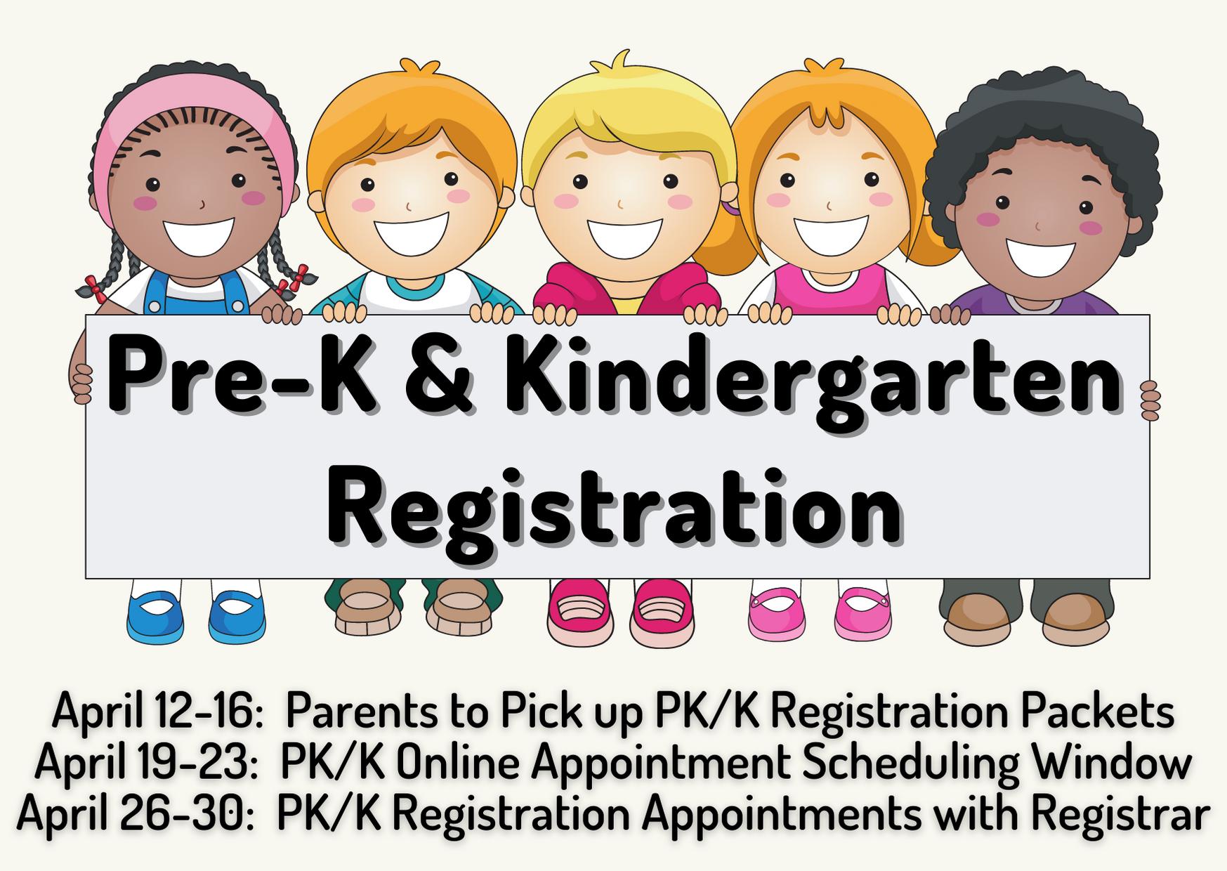 PreK and K Registration 2021