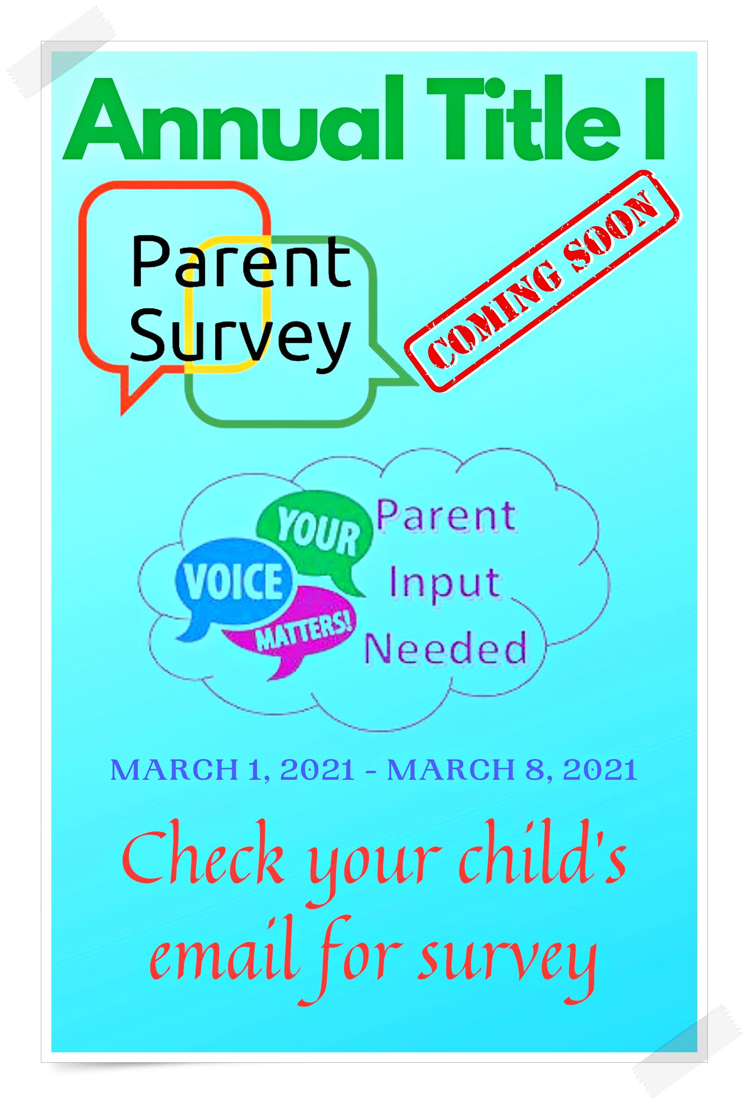 Title I Survey Flyer