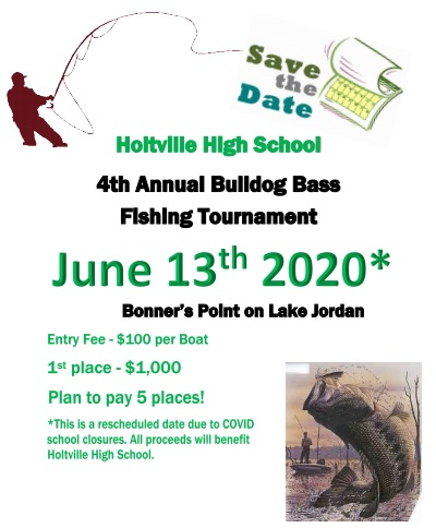New Date for 4th Annual Bulldog Bass Fishing Tournament