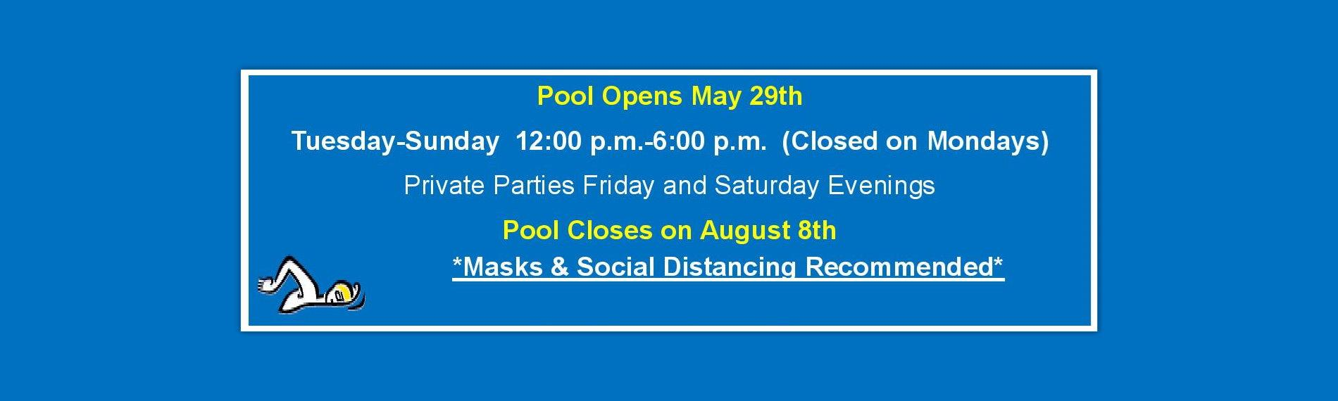 Pool Opens May 29th
