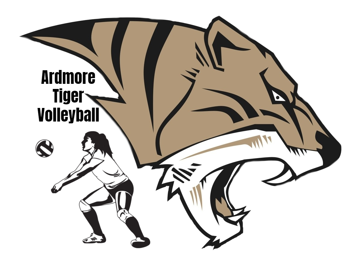 AHS Tiger Volleyball Logo