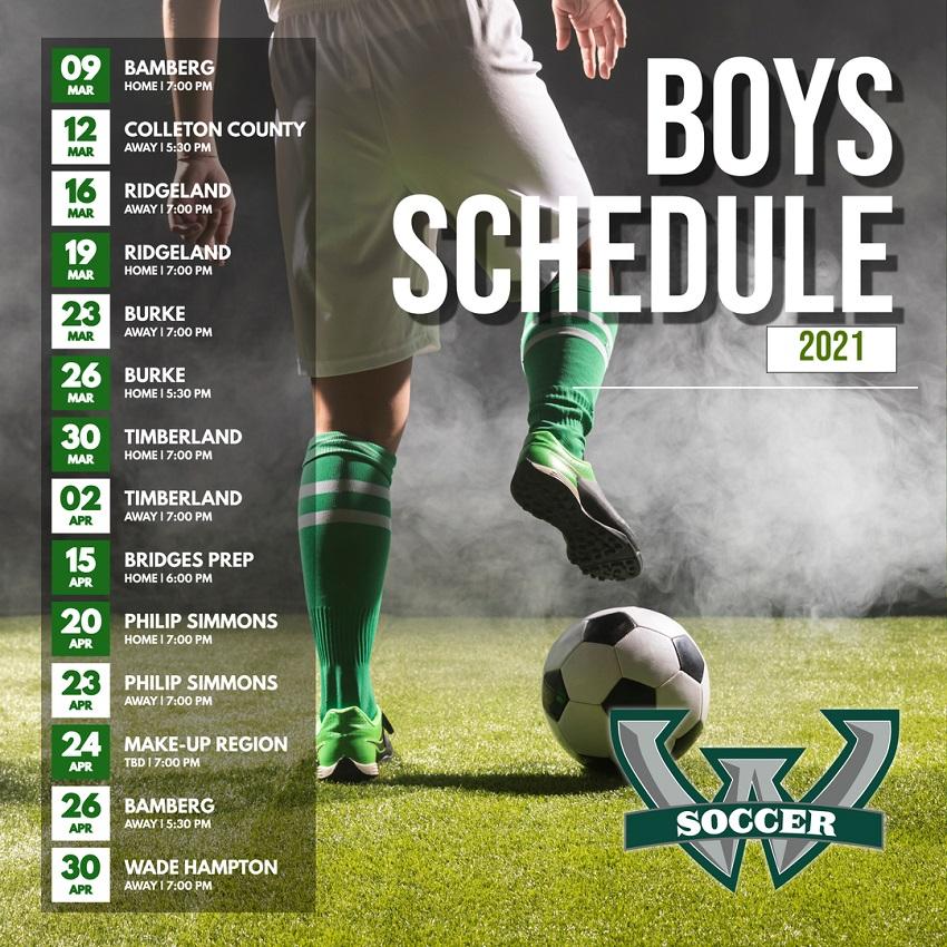 Boys' Soccer Schedule