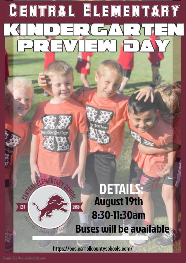 Kindergarten Preview day