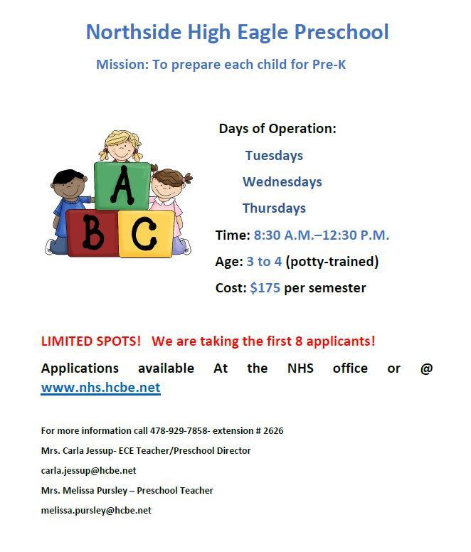 Eagle Preschool Flyer