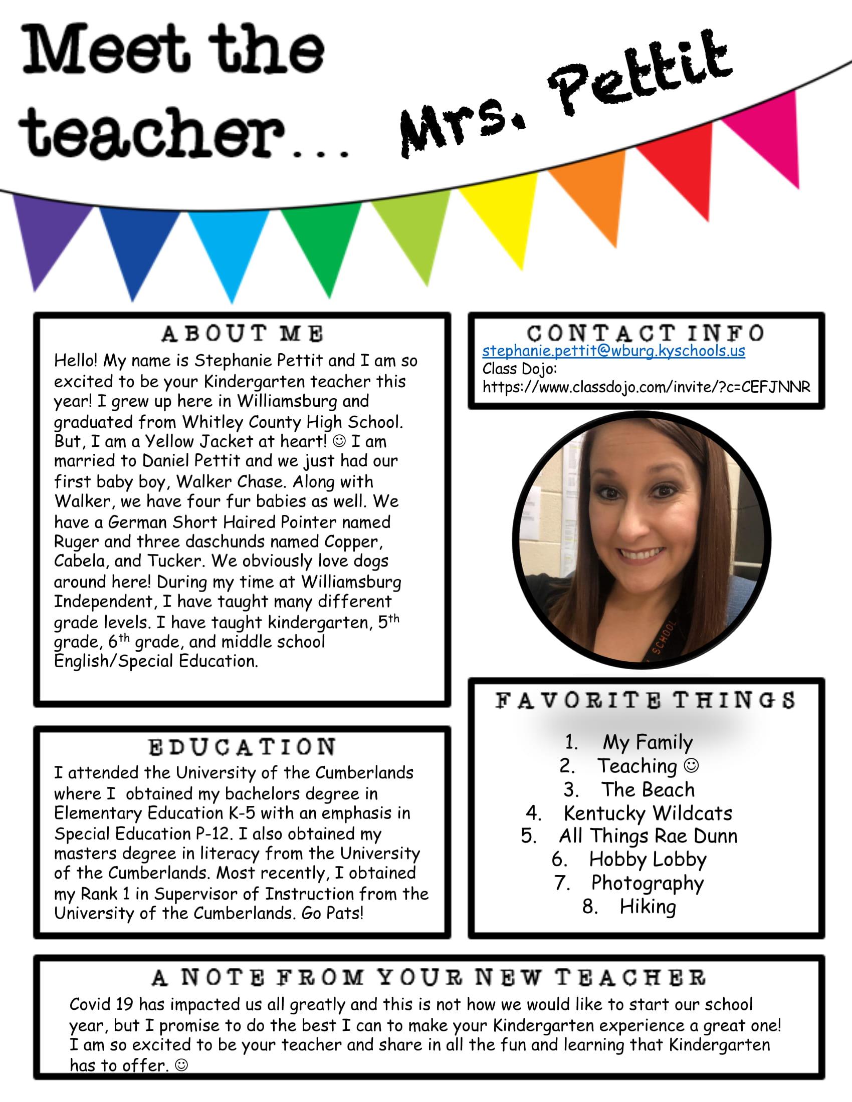 Meet Mrs. Pettit