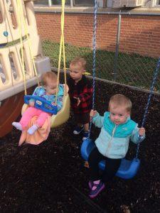 Children on swingset