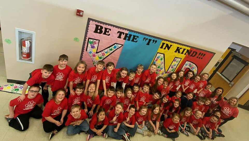 Second Grade Class with Sign
