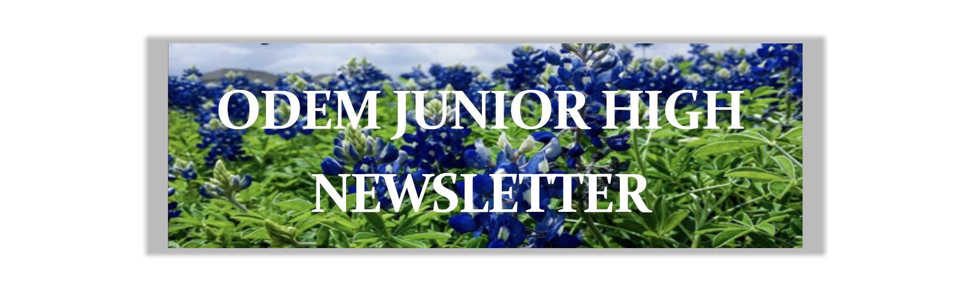 2021 OJH 5th 6wks Newsletter