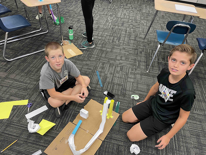 boys working on a STEM Academy project