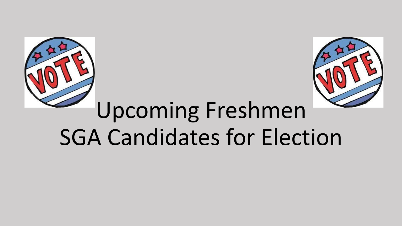 Freshman SGA Candidates