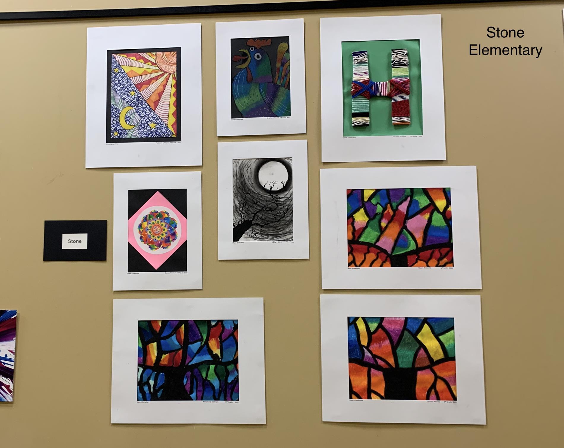 Stone Elementary Art Work