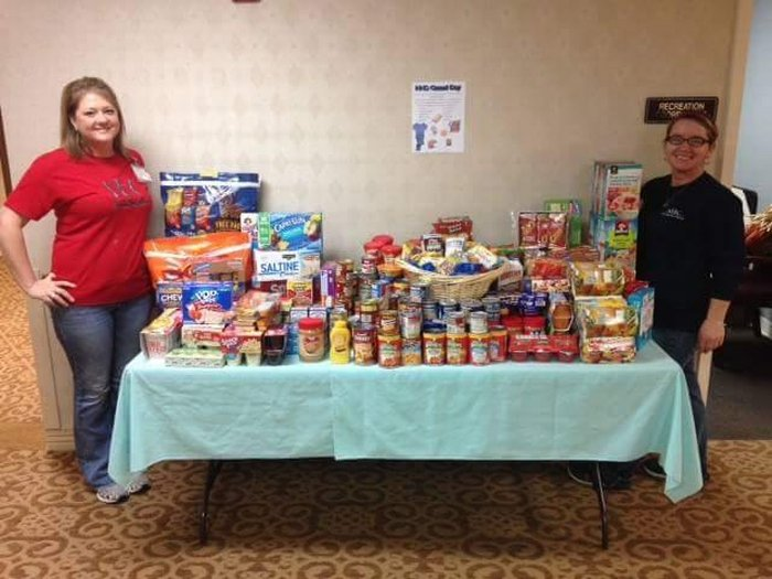 Food donations from NHC.