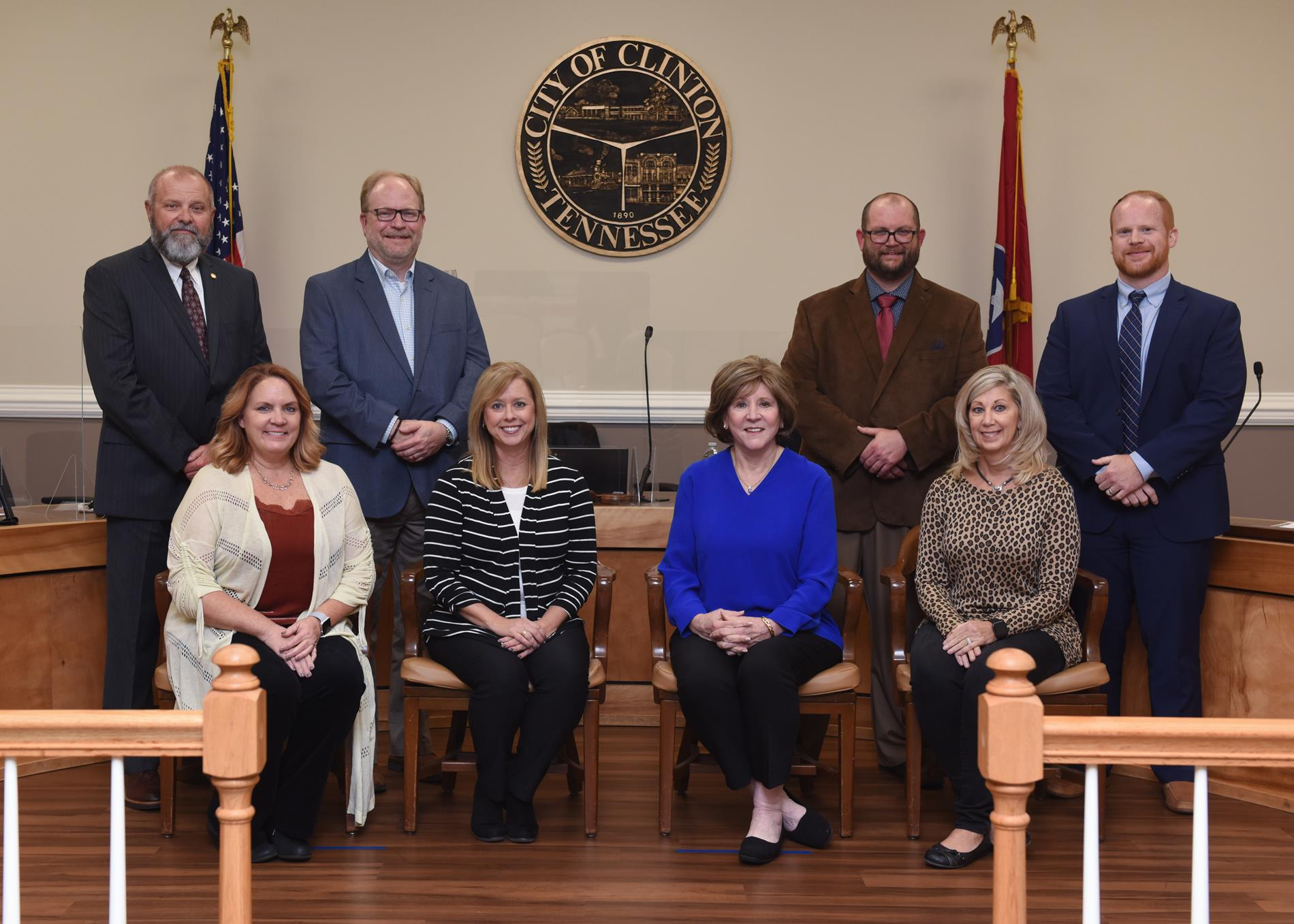 Full School Board with Kelly Johnson, Director of Schools and Kim Martin, Board Secretary
