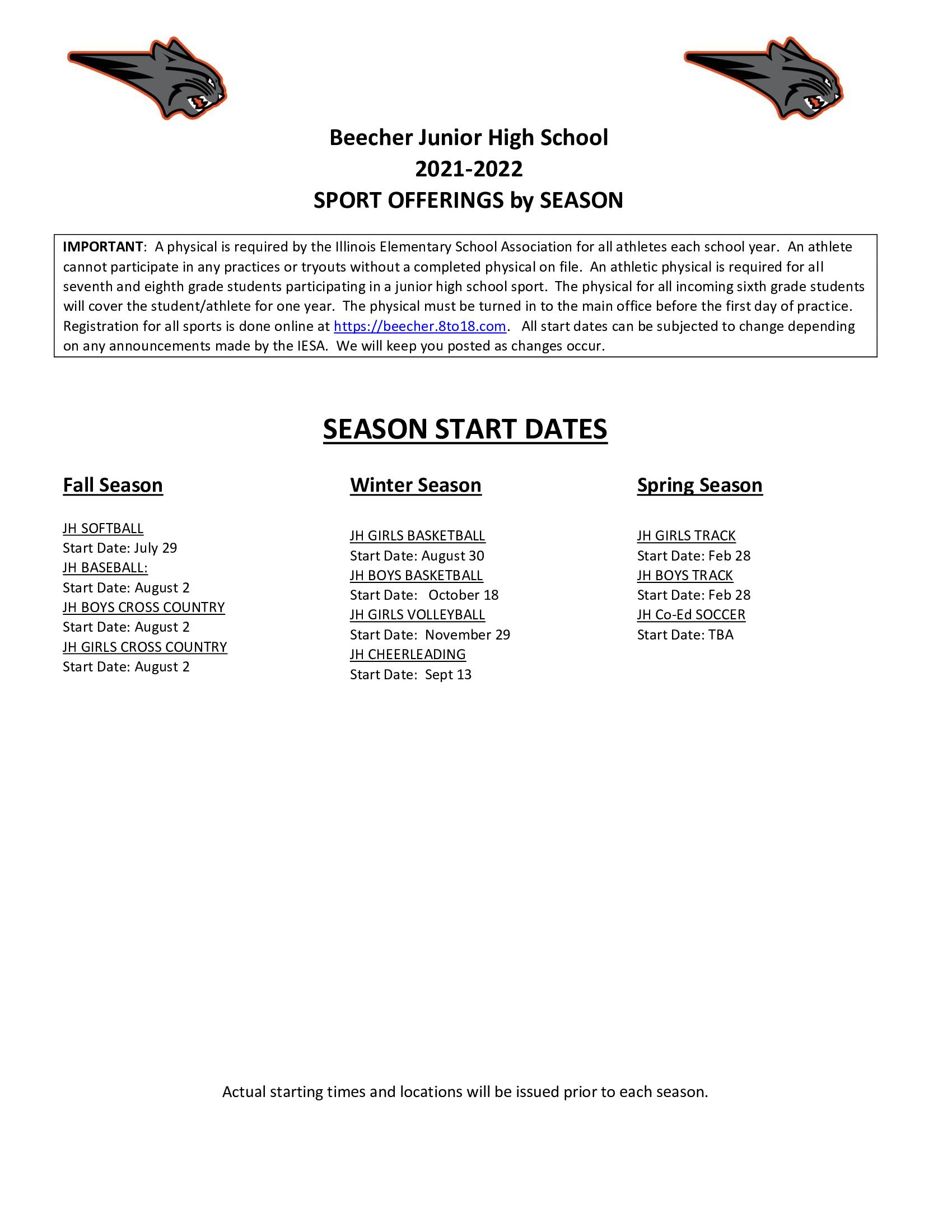 2021-2022 Sports